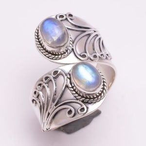 Jewelry - RAINBOW MOONSTONE ~ SILVER RING ~ SIZE 8